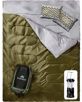 6: HiHiker Double Sleeping Bag Queen Size XL