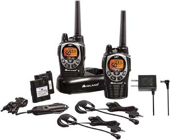 3. Midland - GXT1000VP4, 50 Channel GMRS Two-Way Radio
