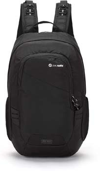 10. Pacsafe Luggage Travel Backpack Black, 15 Liter Venturesafe 15L GII Anti-Theft Daypack, Color (60280100)