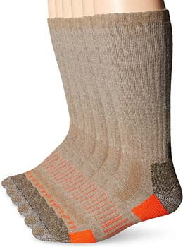 1. Carhartt Men's 6 Pack All-Terrain Boot Socks