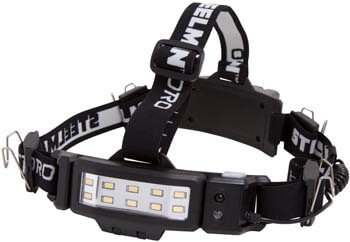 8. STEELMAN PRO 78834 Slim Profile Rechargeable LED 250-Lumen Motion Activated Headlamp
