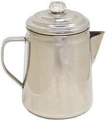 3. Coleman Stainless Steel Percolator, 12 Cup