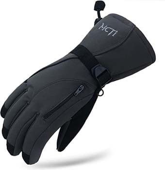 9. MCTi Waterproof Mens Ski Gloves Winter Warm 3M Thinsulate Snowboard Snowmobile Cold Weather Gloves