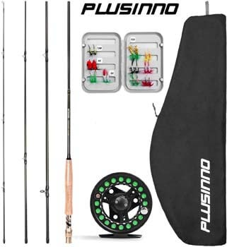 5. PLUSINNO Fly Fishing Rod and Reel Combo