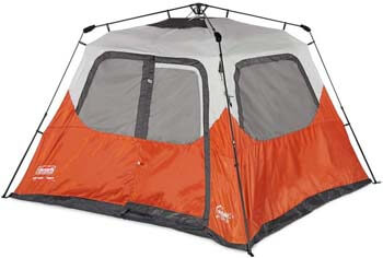 7. Coleman New Outdoor Camping Waterproof 6 Person Instant Tent - 10'x9' Footprint