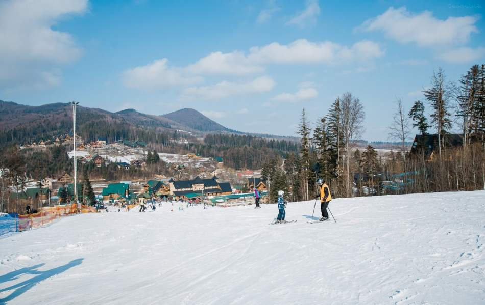 Катання на сноубордах в Карпатах Мигово