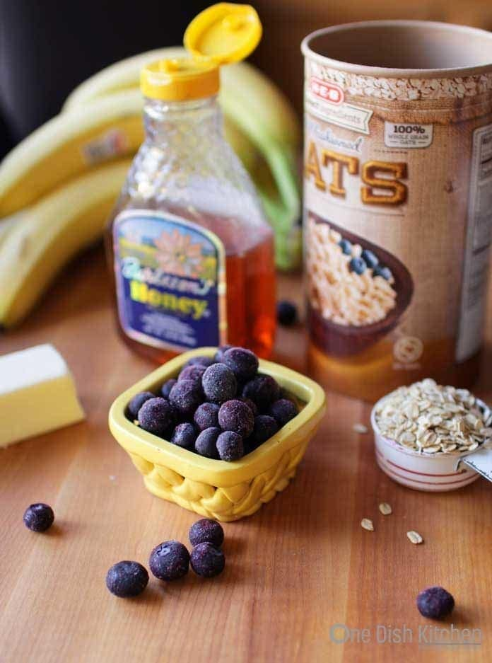 ingredients in baked oatmeal |One Dish Kitchen