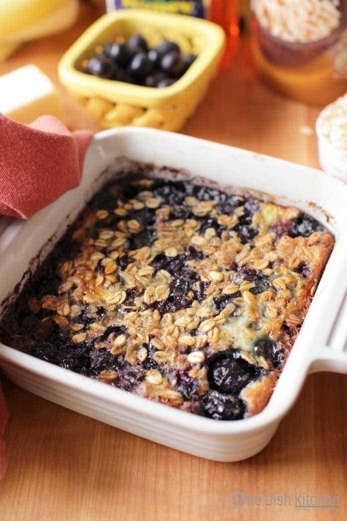 Baked oatmeal with blueberries | One Dish Kitchen