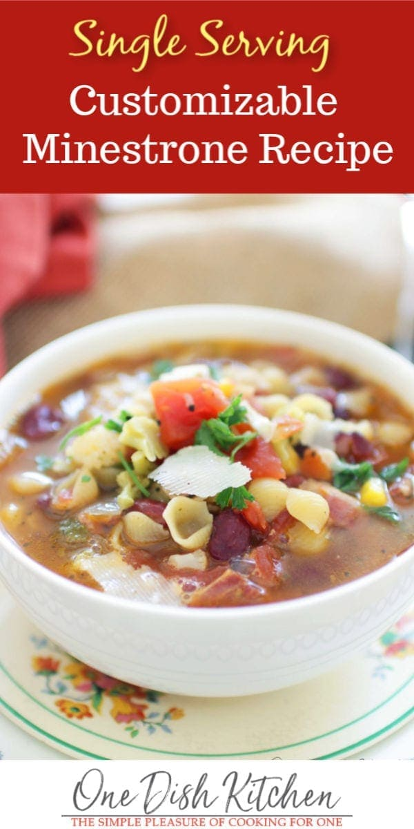 minestrone soup made from pantry items