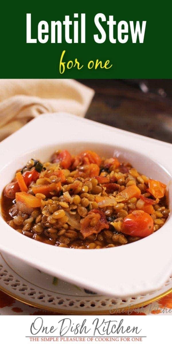 lentil stew in a bowl