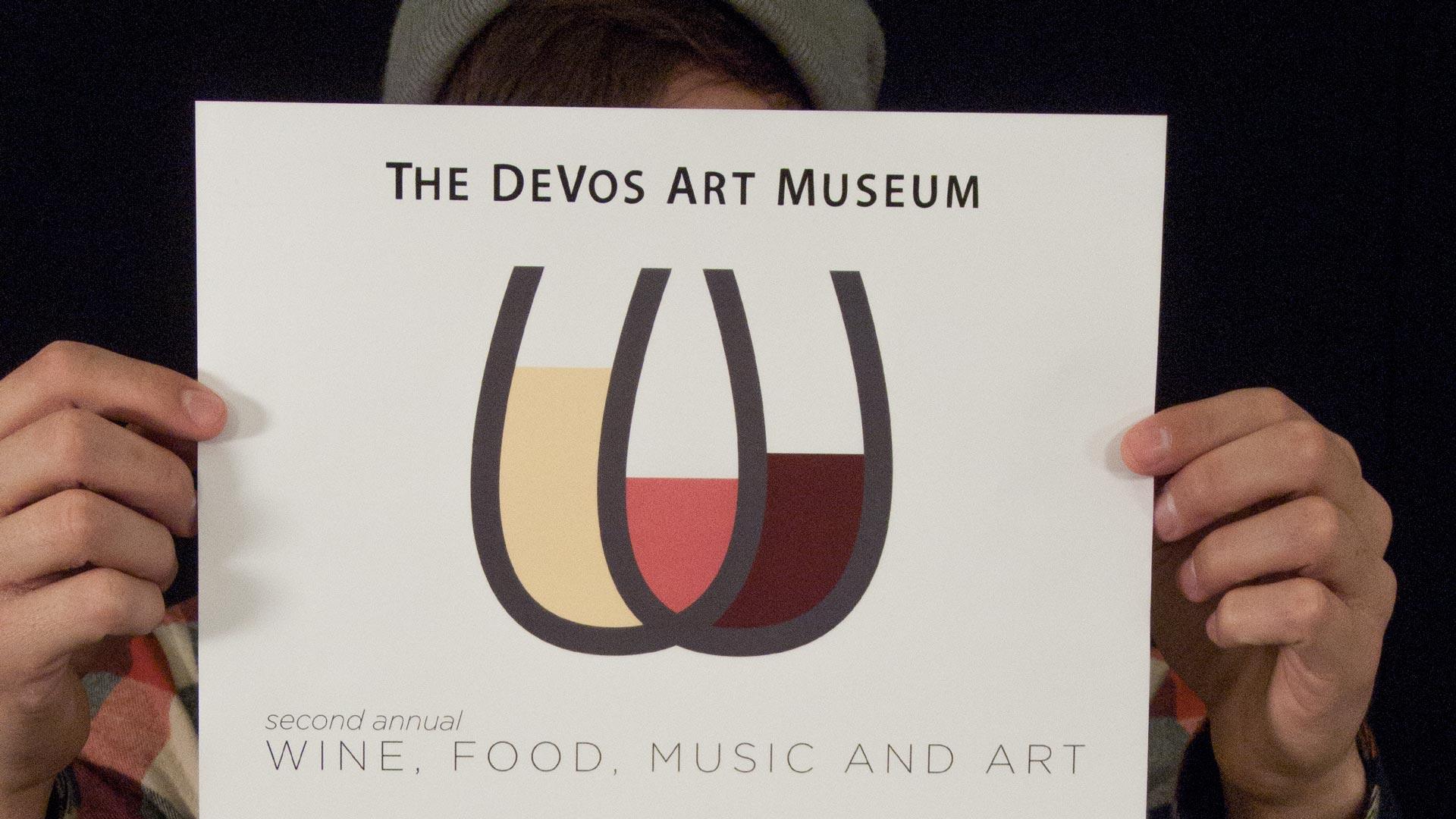 poster from devos wine night