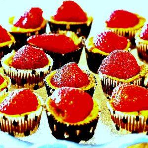Flourless Chocolate Cheesecake Cupcakes
