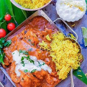Gluten-Free Low-Fat Indian Butter Chicken