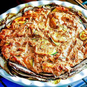 Mediterranean Vegetable Pie In A Potato Crust