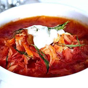 Healthy Vegetarian Ukrainian Borscht Recipe