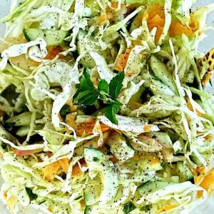 Coleslaw In Light Coconut Dressing With Mint