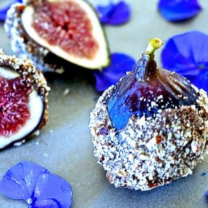 Fresh Figs Dipped In Chocolate
