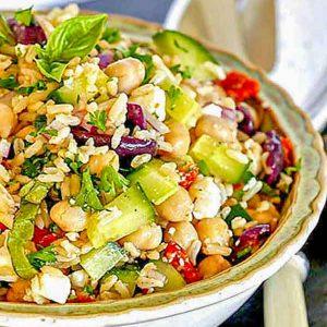 Mediterranean Brown Rice Salad