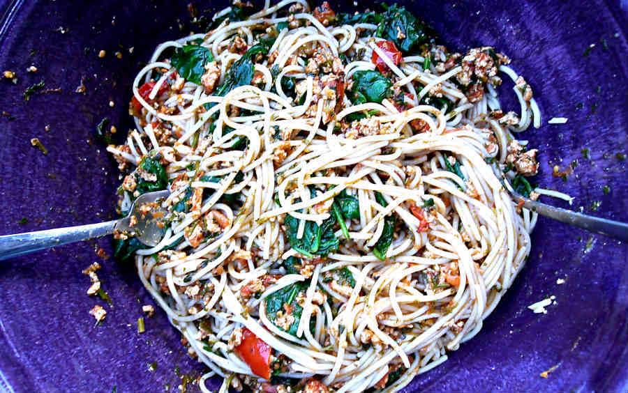 Gluten Free Pasta With Turkey And Spinach