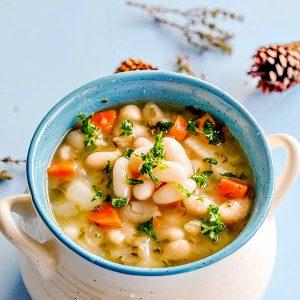 Vegan White Bean Soup with Kale