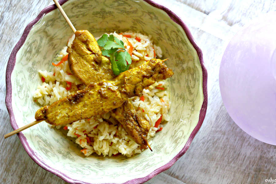 Baked Chicken Satay Bites