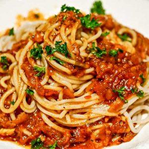 Skinny Zucchini Spaghetti Sauce –  Gluten Free