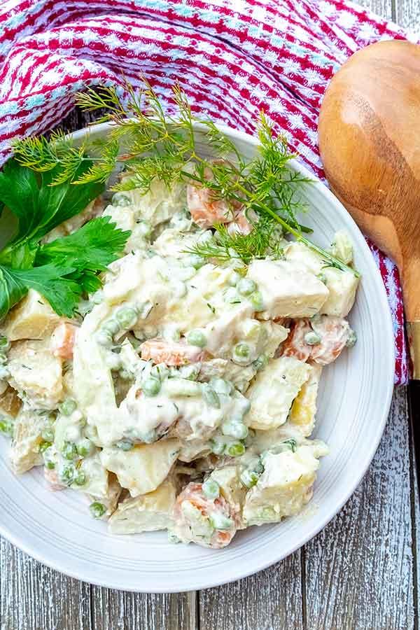 Potato Salad with Yogurt Dill Dressing