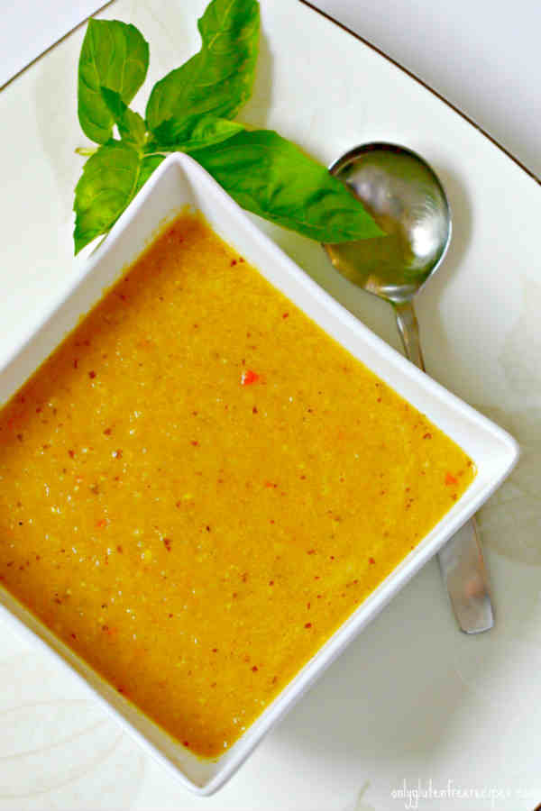 Curried Zucchini Coconut Soup (gluten-free)