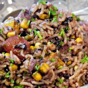 Chicken and Chorizo Jambalaya with Black Rice