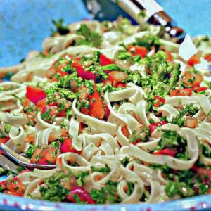 Gluten Free Simple Herb and Garlic Pasta (Vegan)