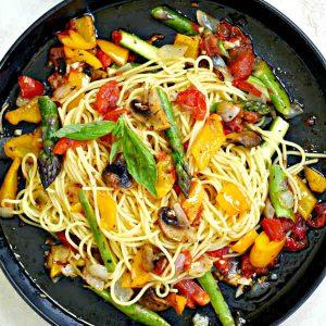 Gluten Free Roasted Veggie Pasta