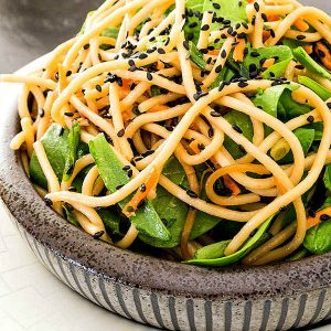 Spinach and Carrot Soba Noodle Salad