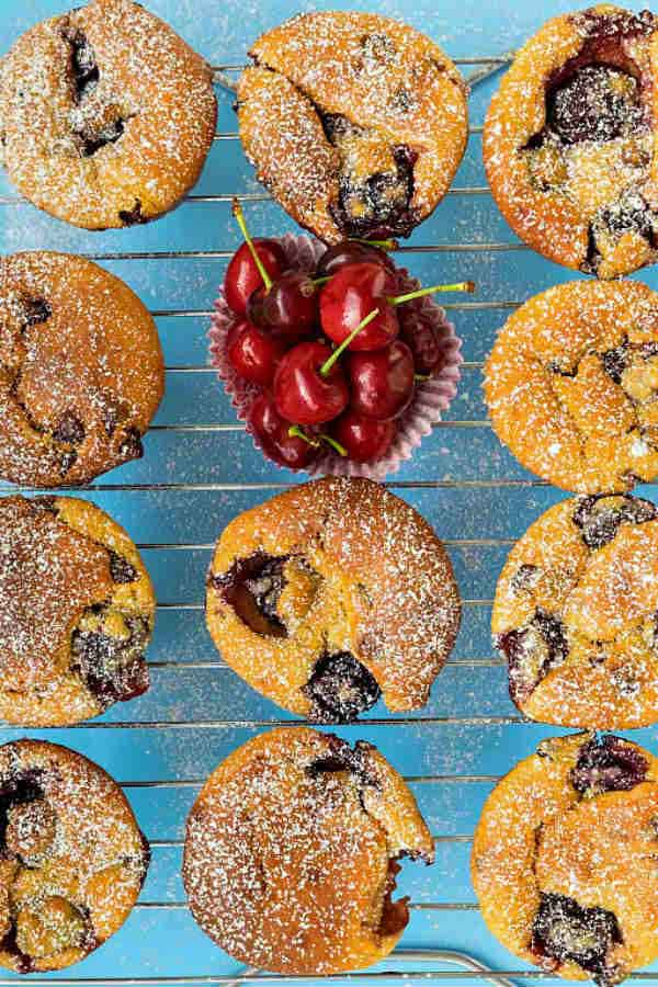 Gluten Free Cherry and Chocolate Muffins