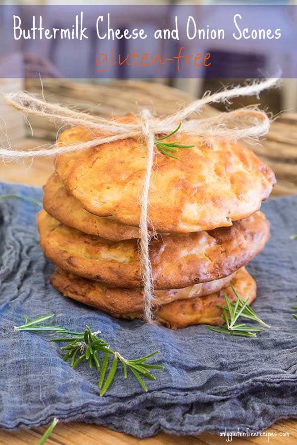 Gluten Free Buttermilk Cheese and Onion Scones