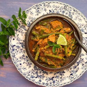 Lamb Stew with Saffron Ginger and Green Beans
