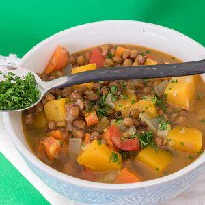 Vegan Lentil Butternut Squash Soup