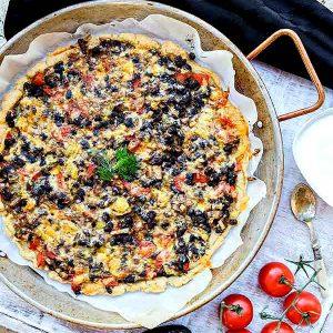 Gluten-Free Meatless Taco Pizza