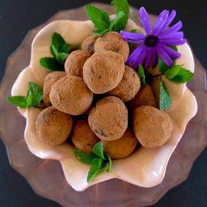 Grain-Free Tropical Chocolate Rum Balls