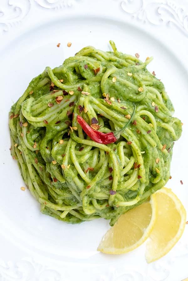 Avocado Pasta Sauce – Vegan Recipe