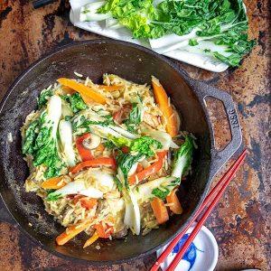 Thai Vegan Bok Choy Rice Bowl