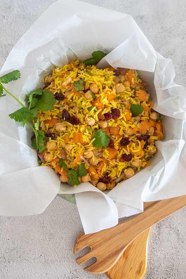 Moroccan Chickpea Rice Salad