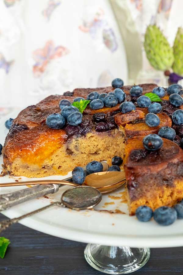Mascarpone Apricot Blueberry Tart Tatin (Gluten-Free)