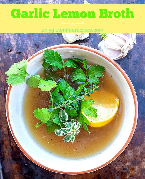 Garlic Lemon Broth
