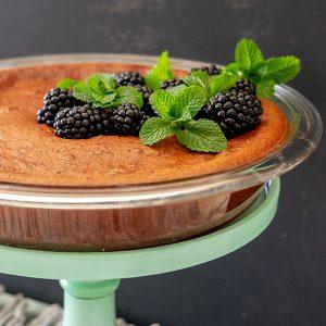 Gluten-Free Chocolate Blackberry Pie