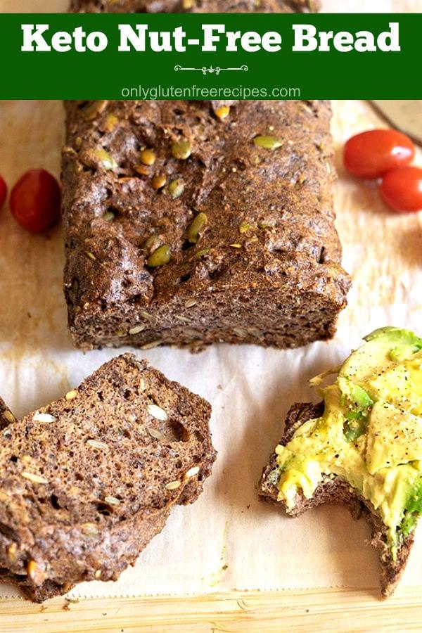 Keto Nut-Free Pumpkin Seed Bread {Gluten-Free, Grain-Free}