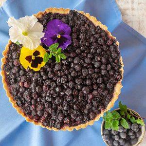 Gluten-Free Blueberry Vanilla Tart {Vegan}