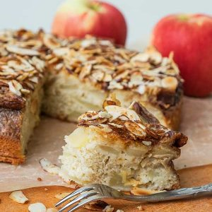 Gluten-Free Apple Sponge Cake With Almond Topping