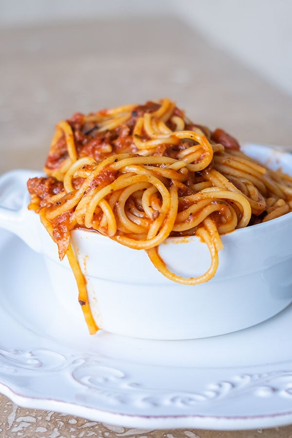 Gluten-Free Instant Pot Spaghetti Bolognese
