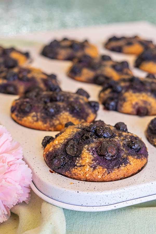 Grain-Free Blueberry Buttermilk Muffins (Nut-Free)