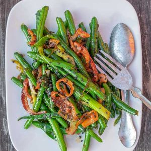 Green Beans with Maple Bacon & Ginger